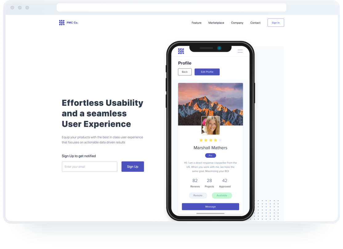 Landing Page - HTML template template Preview